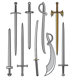swords collection vector image