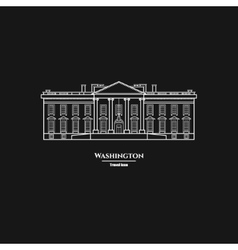 Washington United States White House Icon 1 vector image