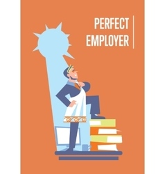 Perfect employer banner with businessman vector image