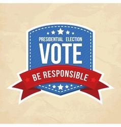 Presidential election label vector
