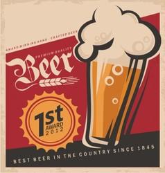 Retro beer poster vector image