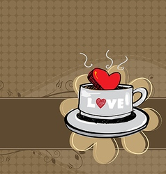 coffee banner layout vector image