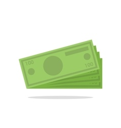 Flat icon of money vector image