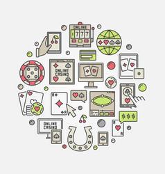online casino circular vector image