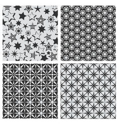 star abstract seamless pattern texture set vector image