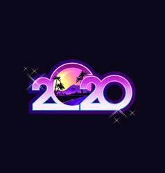 2020 calendar retro vector