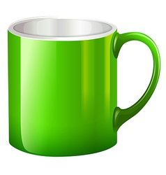 A big green mug vector image