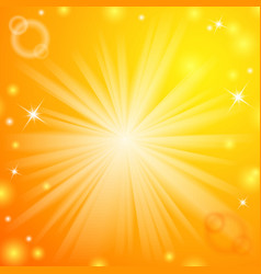 Abstract magic light orange background vector image