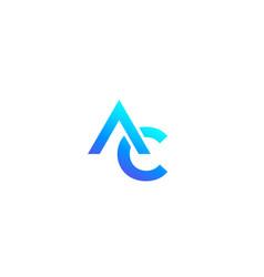 Ac monogram logo on white vector