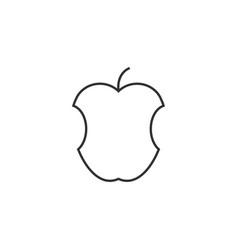 Apple fruit icon flat vector