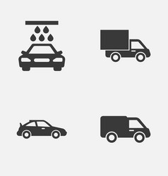 Auto icons set collection of truck lorry vector