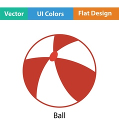 Baby rubber ball icon vector image