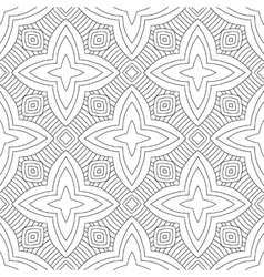Black white seamless pattern Decorative ornament vector