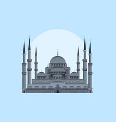 blue mosque - sultan ahmad masjid vector image