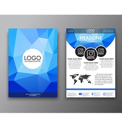 Brochure design with polygonal background vector image