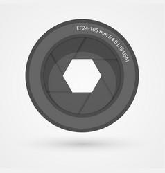 Camera lens icon vector