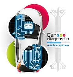 Car diagnostic electric system2 vector