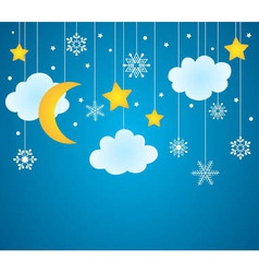 Christmas card or background vector image