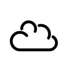 cloud icon symbol of online storage outline vector image