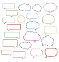 Colored Line Speech Bubbles vector