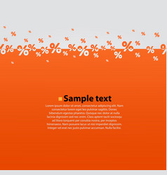 Creative abstract orange percent background vector