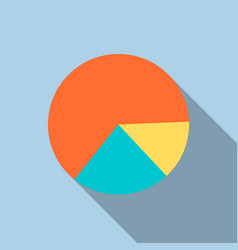 Diagram pie chart icon in flat style vector