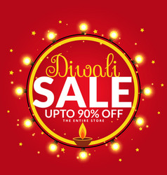Diwali sale and offers banner poster template vector