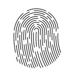 fingerprint icon finger print flat scan vector image