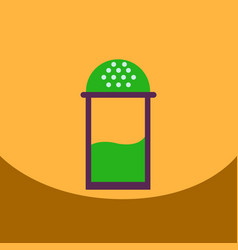 flat icon design collection salt shaker vector image