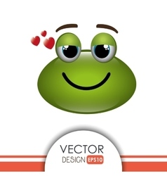 frog emoticon design vector image