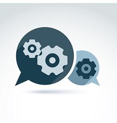 Gears enterprise system theme organiza vector