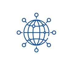 global connection line icon concept global vector image