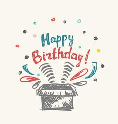 happy birthday in the box vector image