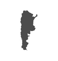 high detailed map argentina vector image