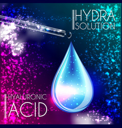 hyaluronic acid oil serum essence 3d droplet vector image