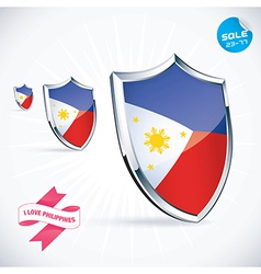 I Love Philippines Flag vector