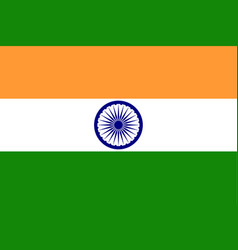 india flag official colors correct proportion vector image