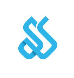 Initial letter ss design logo vector