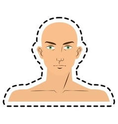 Isolated man face cartoon design vector