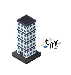 Isometric skyscraper icon building city vector image