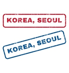 Korea seoul rubber stamps vector