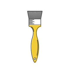 Line brush made of artificial bristle icon icon vector