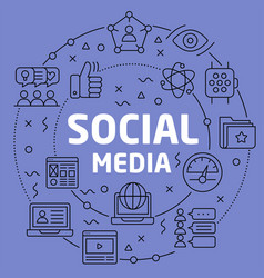 linear social media vector image