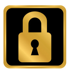lock button on white vector image