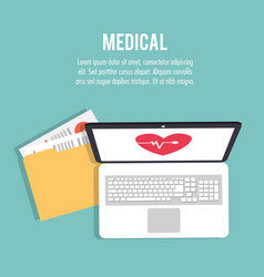 medical health care technology folder file vector image