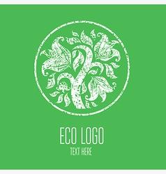 Natiral Logo 03 grunge vector image