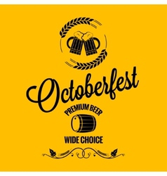 october fest beer design background vector image