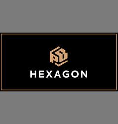 Pb hexagon logo design inspiration vector