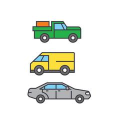Pickup car line icon concept pickup car flat vector