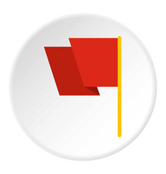 Red flag icon circle vector